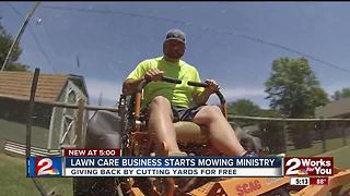 Lawn care business starts 'Mowing Ministry' - Video