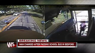 Man charged for nearly hitting child getting off school bus