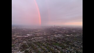 Beautiful rainbow around AirTracker 5