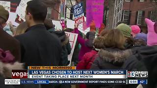 Women's March to be held in Las Vegas next month - Video