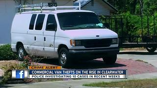 Commercial vans now target for thieves across Pinellas County - Video