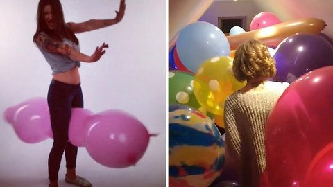 Hot air! Woman defends unusual fetish of having sex with balloons – even though people online consider it 'weird'