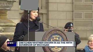 Whitmer, Gilchrist sworn in at inauguration ceremony