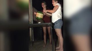 Rubber Band Watermelon Challenge With A Surprise In The End - Video