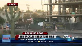 Tucson Fire responding to building fire near Broadway and Euclid