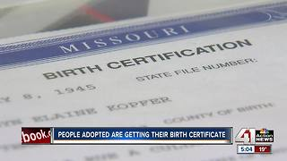 Missouri adoptees given copies of original birth certificate - Video