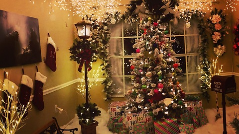 This Family Created A Christmas Wonderland Inside Their Home