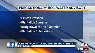 Parts of Fort Myers under boiling water notice - Video