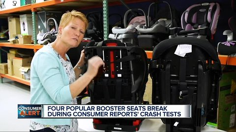 4 popular booster seats break during consumer reports' crash tests