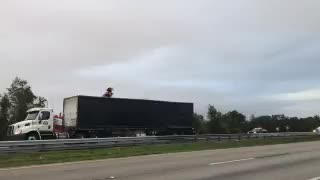 Semi wreck slows southbound traffic on Florida's Turnpike in Indian River County - Video