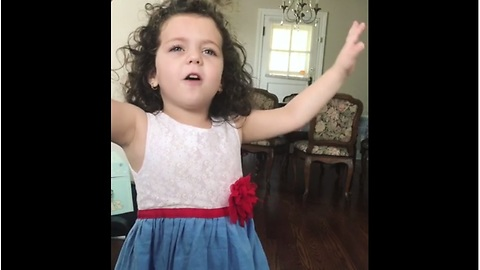 This Performance By Toddler Singing 'My Way' By Frank Sinatra Will Give You The Chills