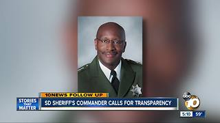 SD Sheriff's Commander calls for transparency - Video