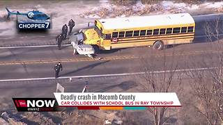 1 dead in accident involving school bus in Macomb County - Video