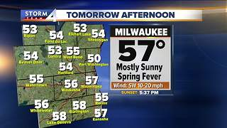 Mainly clear tonight, highs approach 60 Tuesday - Video