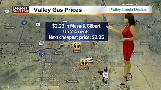 Gas prices continue to rise in the Valley - Video