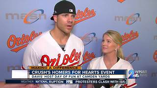 Orioles first baseman Chris Davis hosts Second Annual Crush's For Hearts event - Video