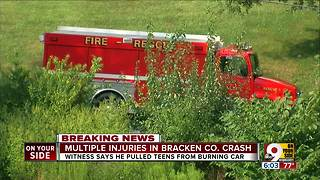 Multiple injuries in Bracken County crash - Video