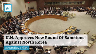 Un Approves New Round Of Sanctions Against North Korea - Video