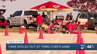 Fans spaced out at third Chiefs game