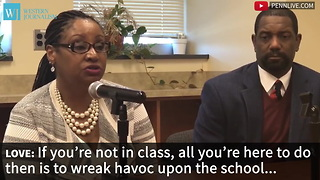High School Principal Takes Drastic Step To Stop Students From Skipping Class - Video