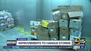 St. Mary's Food Bank makes improvements to safe food during monsoon mess - Video