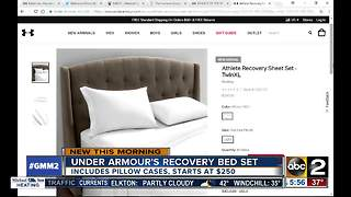 Under Armour offering recovery bed set - Video