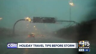 Holiday travel tips ahead of storms