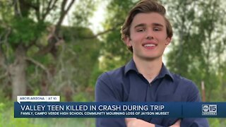 Valley teen killed in crash during trip