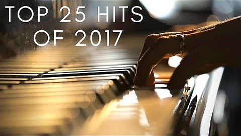 Incredible piano medley covers top 25 hits of 2017