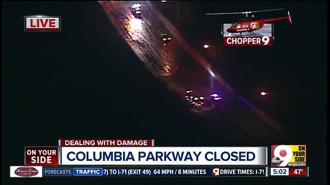 Columbia Parkway closed