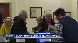 EARLY ON SITE VOTING VOSOT - Video