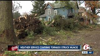 Muncie homes. historic fieldhouse damaged following severe storms - Video