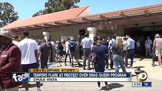 Protesters clash over Chula Vista Drag Queen Story Time