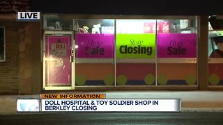 Doll Hospital & Toy Soldier Shop in Berkley closing - Video