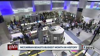 McCarran Airport boasts busiest month in history - Video