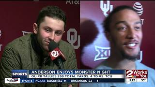 Sooners dominate #6 TCU, 38-20 to take sole possession of 1st place in Big 12; Oklahoma State survives Iowa State, 49-42 - Video