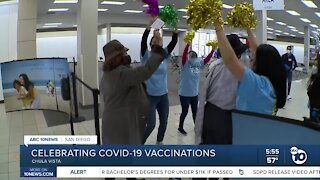 Celebrating COVID-19 vaccinations