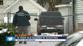 13 year old injured in shooting - Video
