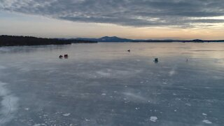 Frozen Lake Winnipesaukee