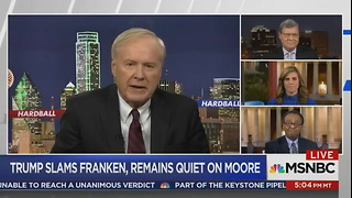Chris Matthews Defends Al Franken_ He Was 'Satirizing' Leeann Tweeden While She Was Asleep - Video
