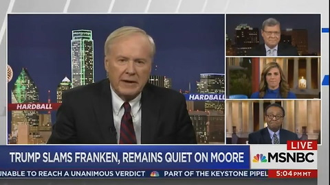 Chris Matthews Defends Al Franken_ He Was 'Satirizing' Leeann Tweeden While She Was Asleep