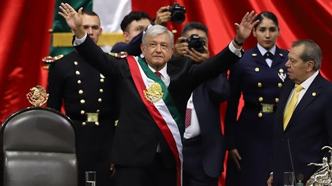 At Inauguration, Mexico's New President Promises To Transform Country