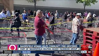 Woman buys groceries for Bakersfield residents in need amid outbreak
