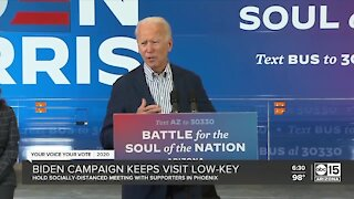 Biden campaign keeps visit low-key