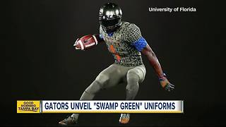 Florida Gators, Nike unveil uniform that looks like alligator skin - Video