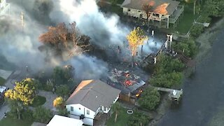 Pasco County firefighters respond to 3-alarm fire, several houses involved