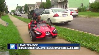 Detroit Lions cornerback helps surprise Hamtramck boy with awesome ride - Video