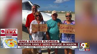 Mason pilot flies family from Florida to Cincy - Video