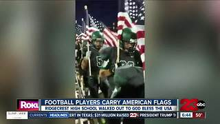 Ridgecrest High School football team goes viral after pregame display - Video