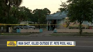 Fatal shooting in St. Pete outside of pool hall - Video
